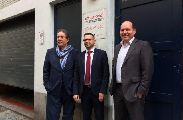 Samusocial verwelkomd Burgemeester en Voorzitter van het OCMW stad Brussel