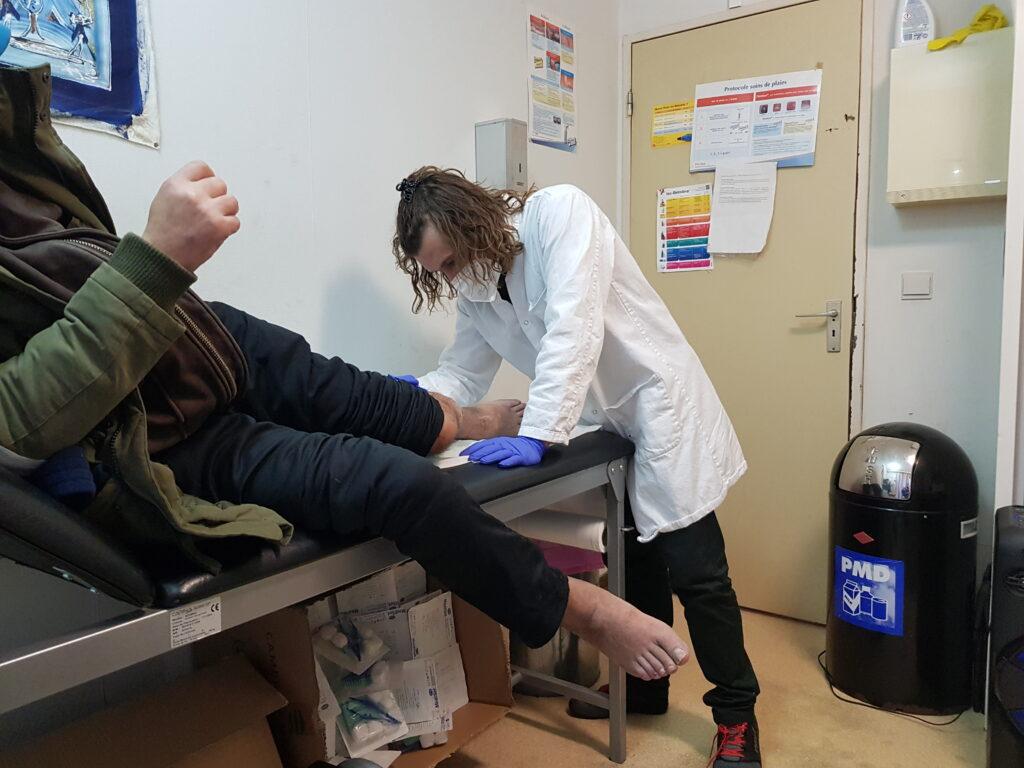 Laurent, infirmier et «point focal médical» à la Médihalte