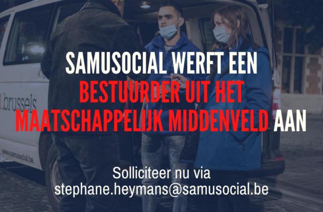 Oproep tot kandidaatstellingen : (New) Samusocial zoekt een bestuurder uit het maatschappelijk middenveld